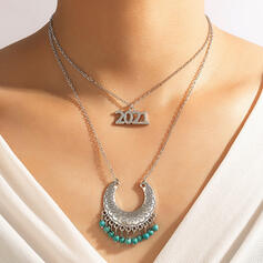 Attractive Charming Elegant Delicate Alloy With Tassels Women's Ladies' Necklaces