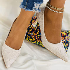 Women's Fabric Stiletto Heel Heels With Solid Color shoes