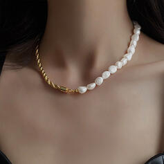 Unique Exquisite Stylish Alloy Pearl With Pearls Women's Ladies' Girl's Necklaces