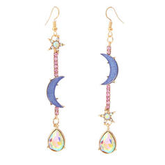 Charming Pretty Artistic Romantic Alloy With Star Moon Women's Earrings