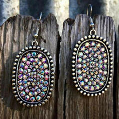 Charming Pretty Artistic Romantic Alloy With Rhinestones Women's Earrings