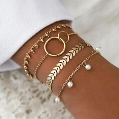 Hottest Alloy With Imitation Pearl Jewelry Sets Bracelets Beach Jewelry (4 pieces)