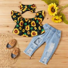 3-pieces Baby Girl Floral Print Set