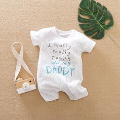 Baby Letter Print Cotton One-piece