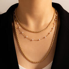 Attractive Charming Artistic Delicate Alloy With Imitation Pearls Women's Ladies' Necklaces
