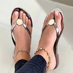 Women's PVC Flat Heel Sandals Peep Toe Slippers With Hollow-out Crisscross shoes