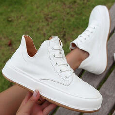 Women's Microfiber Flat Heel Flats Ankle Boots High Top Round Toe Loafers Sneakers Slip On With Solid Color shoes