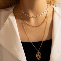 Attractive Charming Artistic Delicate Alloy With Leaf Women's Ladies' Necklaces