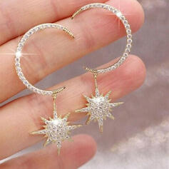 Charming Pretty Artistic Romantic Alloy With Rhinestone Women's Earrings