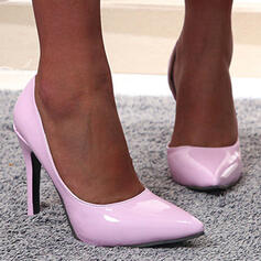 Women's PU Stiletto Heel Pumps Pointed Toe With Solid Color shoes