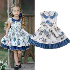 Baby Girl Birthday Floral Print Cotton Dress