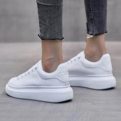 Women's Cloth Flat Heel Flats Low Top Round Toe With Lace-up shoes
