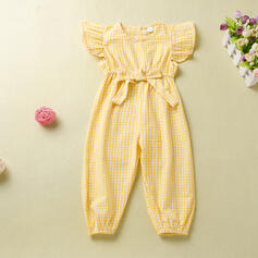Toddler Girl Ruffle Plaid Jumpsuit