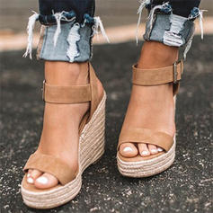 Suede Wedge Heel Sandals Wedges Peep Toe Heels With Others shoes