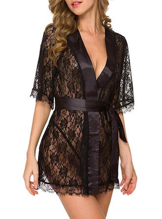 Lace Sexy 1/2 Sleeves Alluring Robe Night Dress