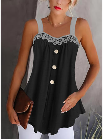 Lace Strap Sleeveless Tank Tops