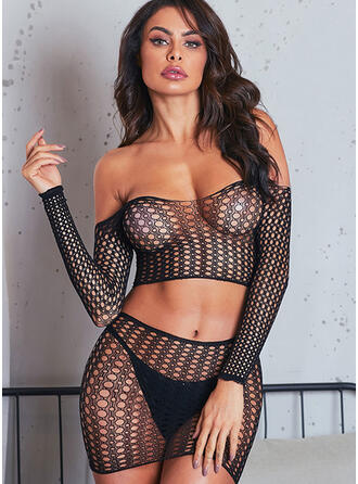 Polyester Spandex Lace Sexy Lingerie Set