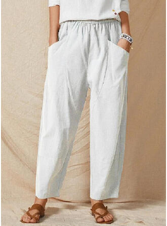 Solid Plus Size Casual Solid Lounge Pants