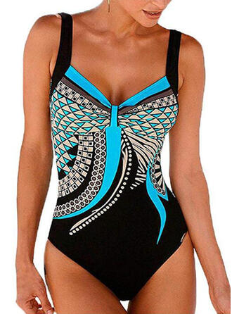 Floral Strap Sexy Plus Size One-piece Swimsuits