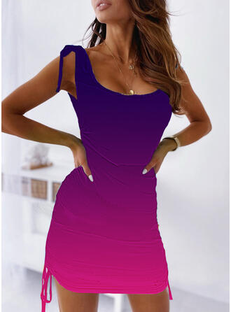 Gradient Sleeveless Bodycon Above Knee Casual/Vacation Dresses