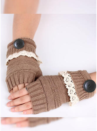 Solid Color/Crochet Breathable/Comfortable/Women's Gloves