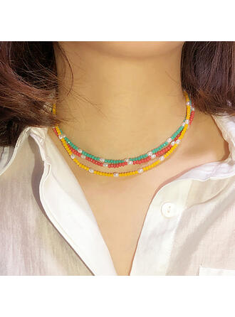Boho Elegant Artistic Delicate Luxurious Delicate Chain Alloy Imitation Pearls Crystal Women's Ladies' Choker Necklace