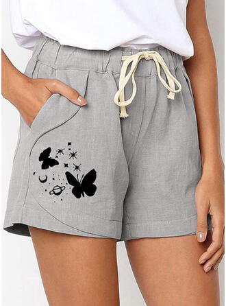 Print Plus Size Casual Print Shorts